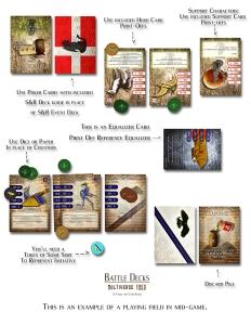 Battle Decks Basic Card Game Setup