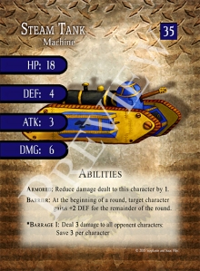 Battle Decks - Steam Tank Preview Card