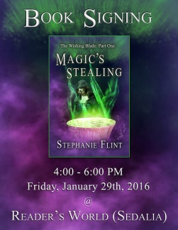 Readers World - Magic's Stealing Book Signing Flyer