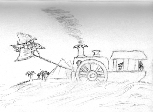 The Multiverse Chronicles - Pterosaur and a Steam Boat