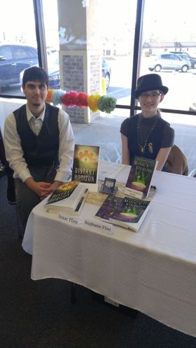 Isaac and Stephanie Flint at Reader's World Book Signing (Photo by G.A. Edwards)