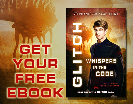 Sign up for the Distant Horizon Universe mailing list and read Whispers in the Code for free!