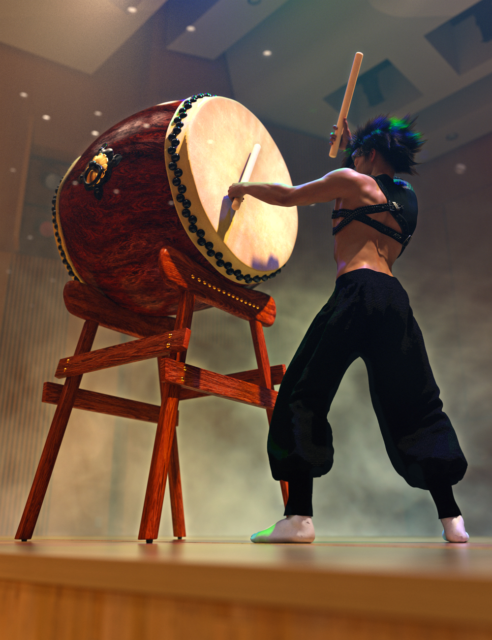 SBibb Taiko Props and Poses for Genesis 8 and 8.1 Cover